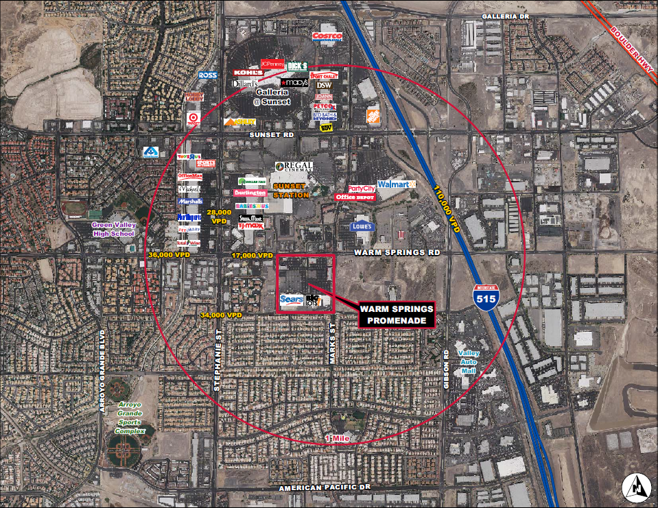 City of Henderson, Nevada - Retail Space for Lease in Vicinity